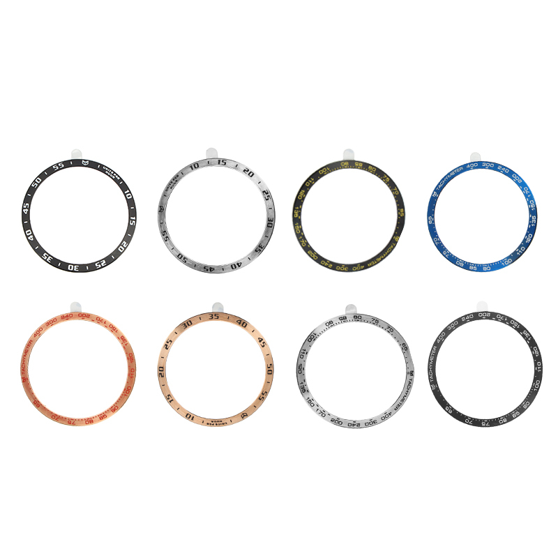 Bezel Ring Adhesive Cover 42MM Watch Face Bezel Cover Scratch Resistant Metal Bezel Replacement For Smart Watch Accessories