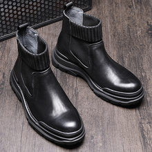 Men Vintage Genuine Leather Martins Boots Gothic Punk Male Japan Steetwear Fashion Casual Cow Leather Chelsea Boots Shoes(China)