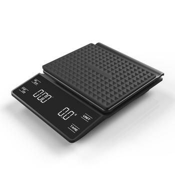 Smart Coffee Scale with Timer Waterproof Electronic Drip Coffee Scale 3KG/0.1g Precision Kitchen Scale Food Scale Silicone Pad