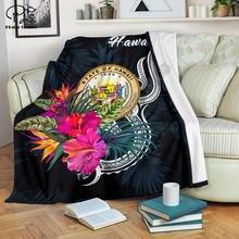Гавайская полинезийская одеяло тропический цветок 3d печать