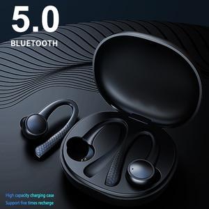 Image 3 - TWS 5,0 Bluetooth наушники для iphone Xiaomi Беспроводные наушники с микрофоном спортивные наушники с крючком для бега шумоподавление гарнитуры