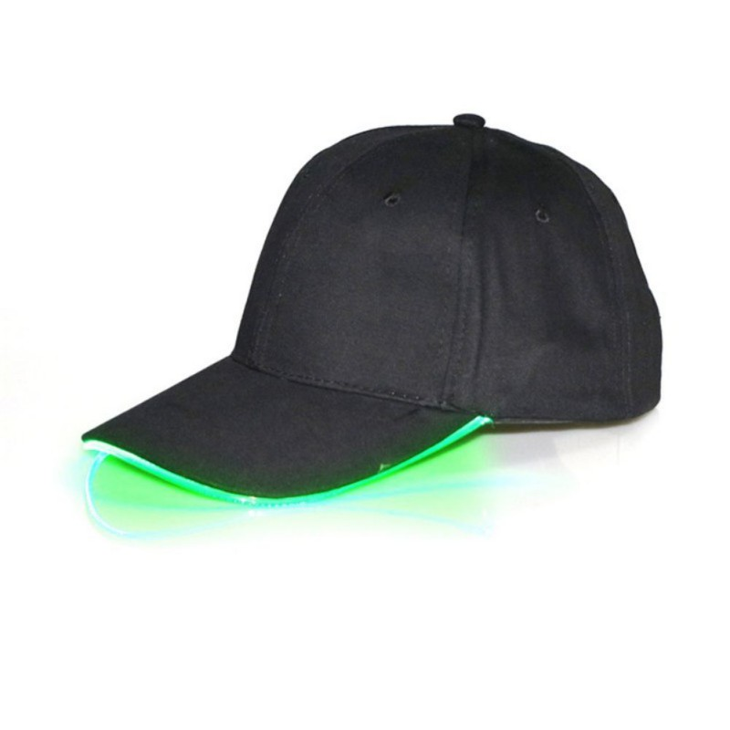 Cool LED Light Up Baseball Caps Glowing Adjustable Hats Perfect for Party Hip-hop Running and More
