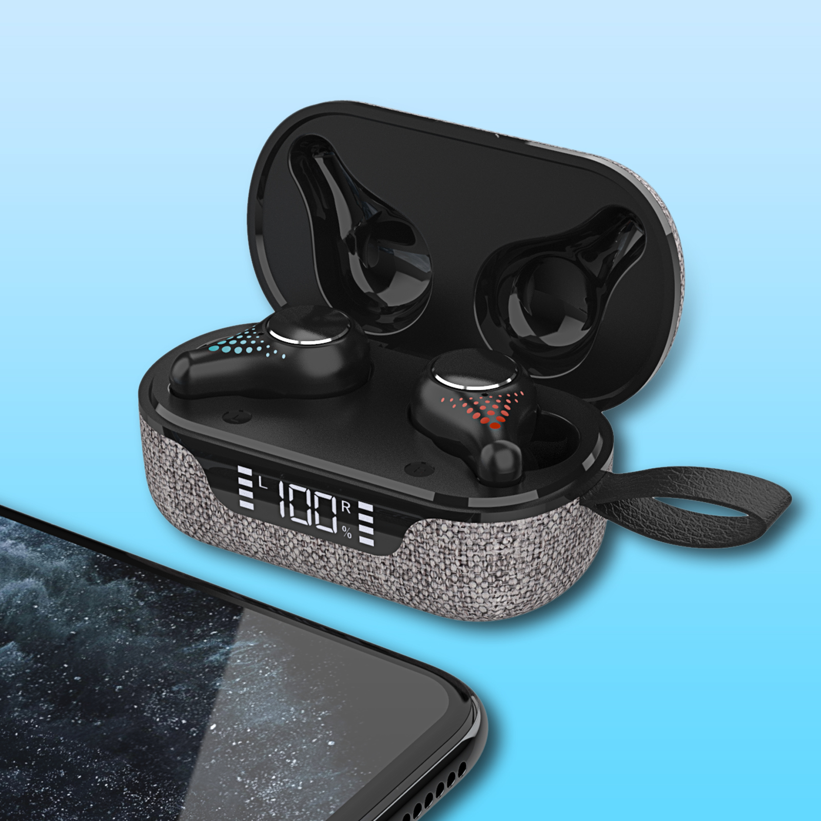 Samload <font><b>TWS</b></font> Wireless <font><b>Earbuds</b></font> IPX7 Waterproof Noise reduction Bluetooth Earphones Deep Bass In-Ear Headphones Built-in Mic Calls image