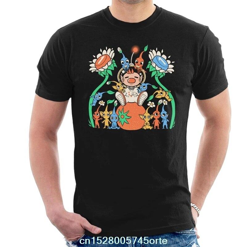 Забавная Мужская футболка с принтом 2020 camiseta Pikmin, Мужская футболка из 100% хлопка, женская футболка