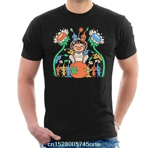 Printed funny 2020 camiseta Pikmin Friendly Alien Flora Men's T-Shirt 100% cotton women tee shirt(China)