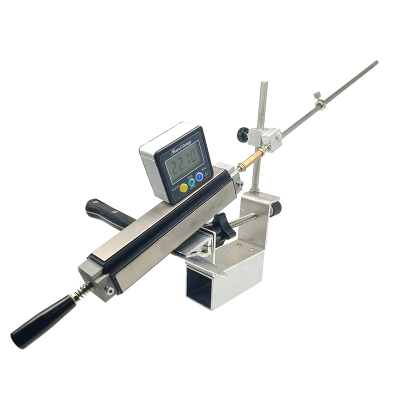 Couteau de cuisine aiguiseur pince secousse KME outils de meulage meuleuse machine 200 #500 #1000 # diamant pierre à aiguiser cuir strop Sy-002