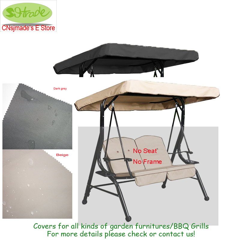 Canopy(Only a Roof) for 2 seaters Porch swing chair 72.83x58.27/185x148cm, Outdoor Use All Weather Deluxe Canopy replacement