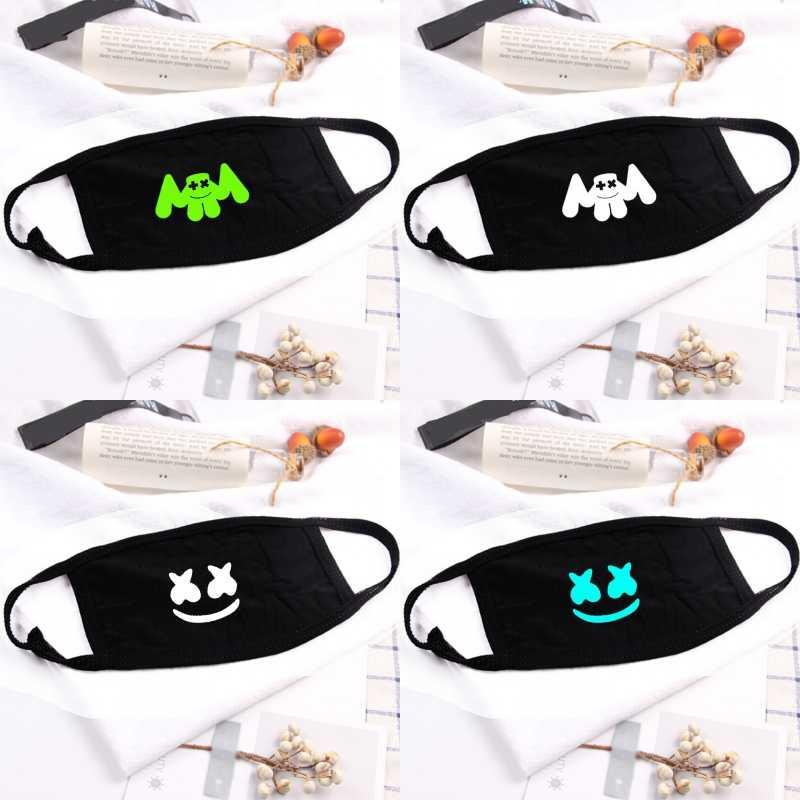 DJ Marshmello Viso Maschera Cotone Maschera di Respirazione Elettrico Famiglia di Musica Orecchio Appeso A Casa Stampate Maschera Accessorio di Abbigliamento Unisex Regalo