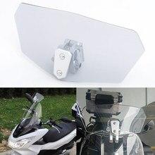 Universal Adjustable For Harley Honda BMW Motorcycles Scooters Motocross Windshield Extension Spoiler Windscreen Deflector