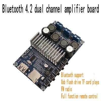 TPA3116 Bluetooth 4.2 High Power 2.0 Digital Power Amplifier Board 12-24V Udisk TF Card Decoding