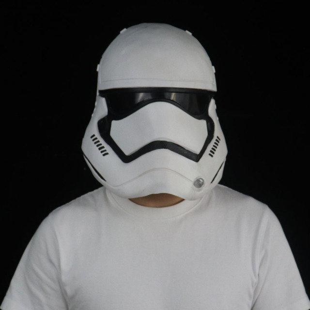 Star Wars Imperial Stormtrooper Mask Cosplay The Rise of Skywalker Latex Helmet Masks Halloween Party Props 2