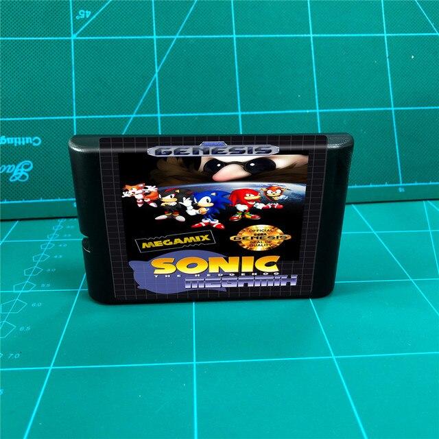 Sonic Megamix   16 bit MD Games Cartridge For MegaDrive Genesis console