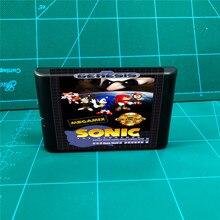 Sonic Megamix cartucho de juegos MD de 16 bits para consola MegaDrive Genesis