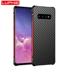 for Samsung Galaxy S10 Plus S10 Case, Metal Frame Bumper Aluminum Alloy Frame Protection Cover Military Grade Armor Carbon Fiber