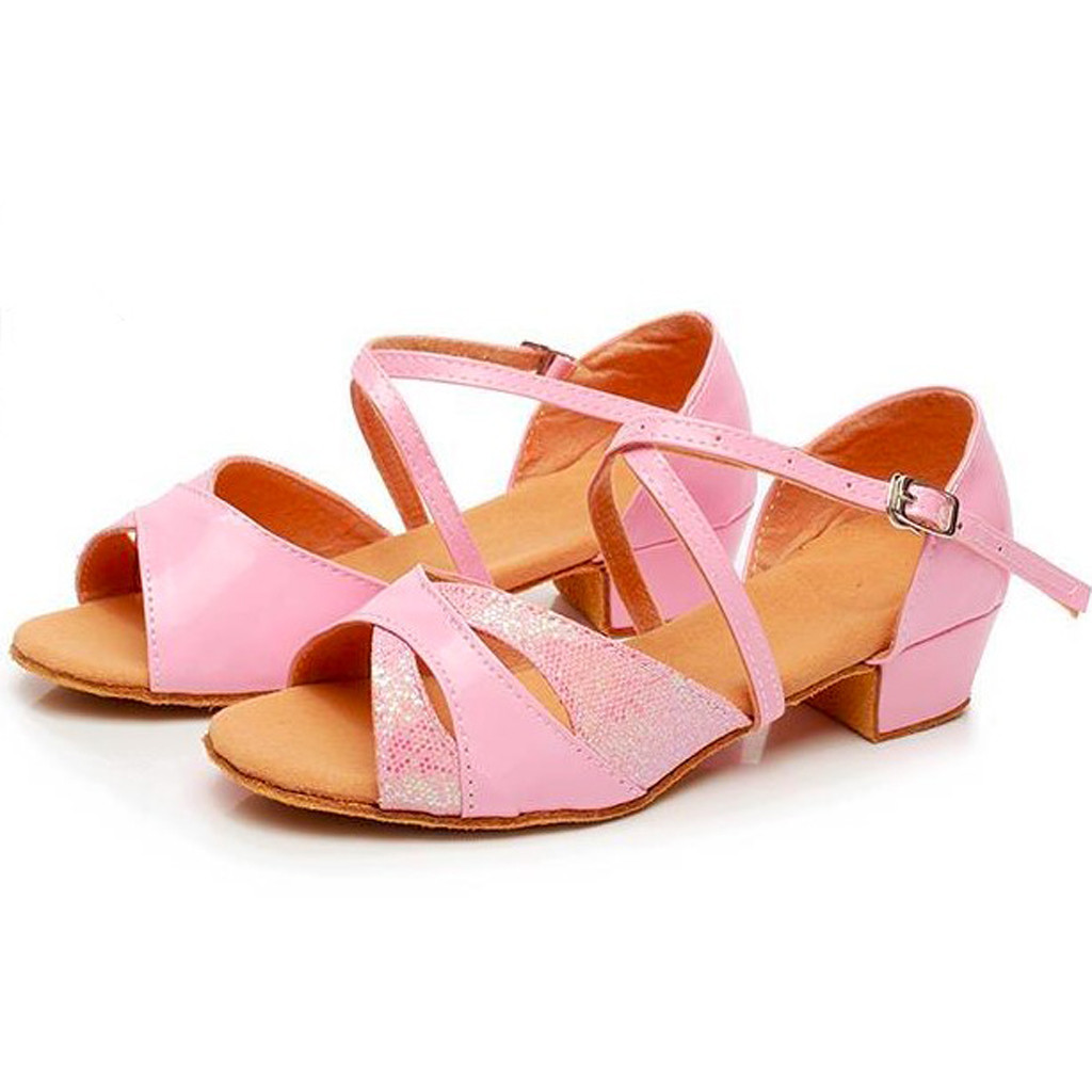 Infant Toddler Baby Soft Sole Tassel Toddler Baby Kids Girls Princess Dancing Ballroom Tango Latin Shoes Sandals