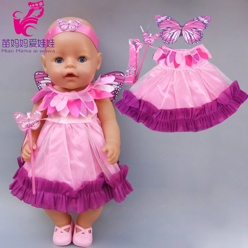 43cm New Born Baby Doll Spring Dress 18 Inch Doll Clothes Outwear