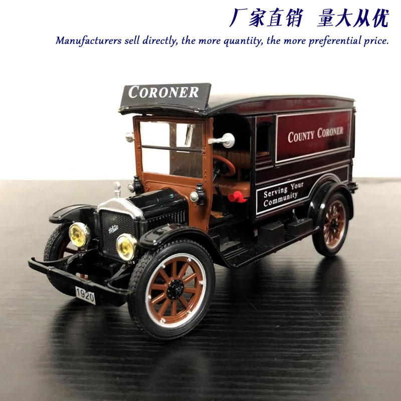 Signature 1/32 Scale Vintage Car 1920 WHITE VAN Diecast Metal Car Model Toy For Collection,Gift,Decoration