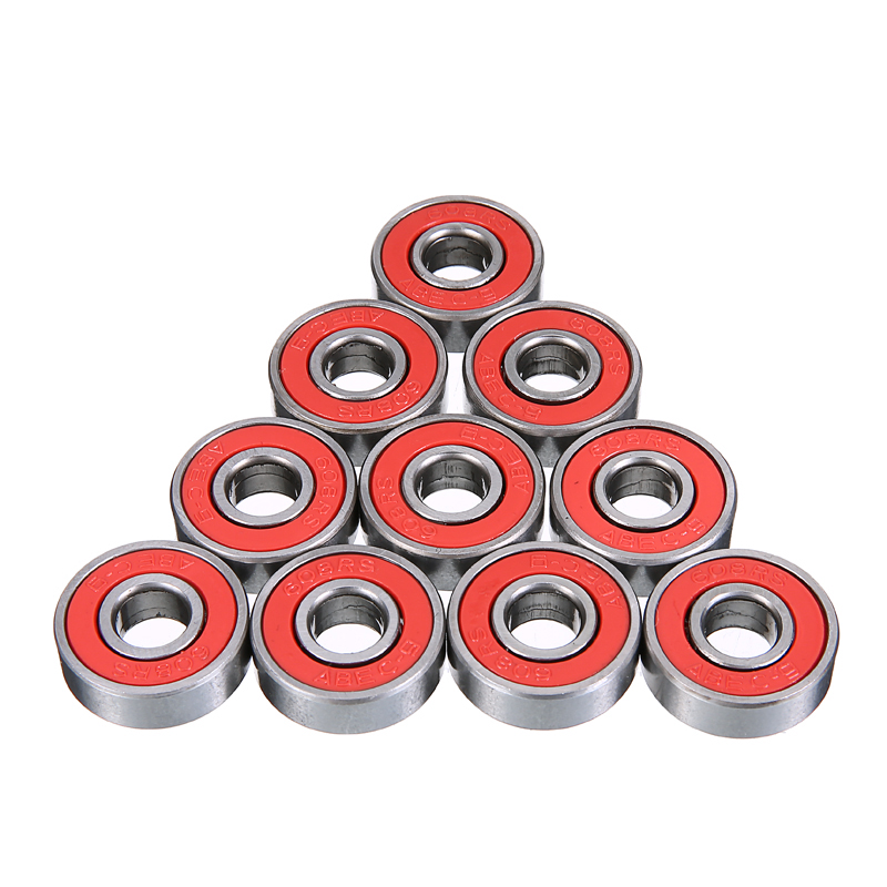 10pcs ABEC 9 Red Scooter Rollerblades Skateboard Wheel Bearings TN Engineering Plastic 8mm ID 22mm OD Durable