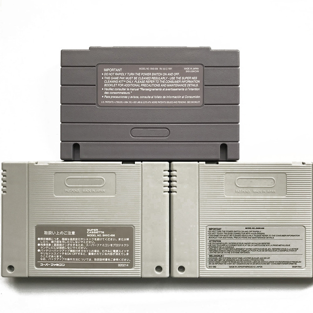 SNES Replacement Case Cartridge Shell with 2pcs Metal plum screw and 1 back sticker for snes sfc