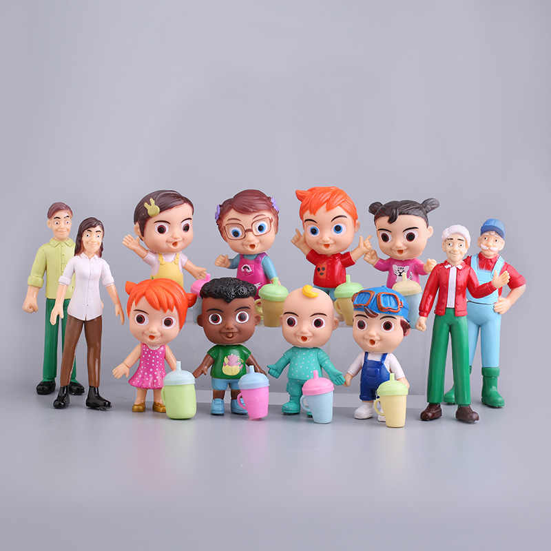 12pcs Set Cocomelon Action Figure Toy Pvc Model Dolls Cocomelon Toys Kids Baby Gift Aliexpress