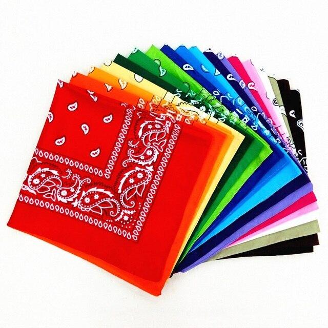 Bandana Kerchief Man Women Hair Band Neck Scarf Sports Headwear Wrist Wraps Head Square Scarves Print Handkerchief 2