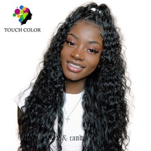 Malaysia Hair Jerry Curly Wave With Bady 13*6 Swiss Lace Front Wigs 100% Remy Human Weaving 8-26 inch HD