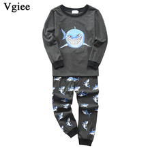 Vgiee Children Boys Girls Clothes Fall Winter Full Cotton Unisex Crtoon Pattern for Shark Baby Kids Girl Set CC645