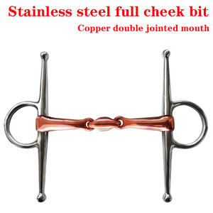 Stainless-Steel Elliptical-Link Copper Double-Jointed Mouth.with BT0611CU Full-Cheek-Bit