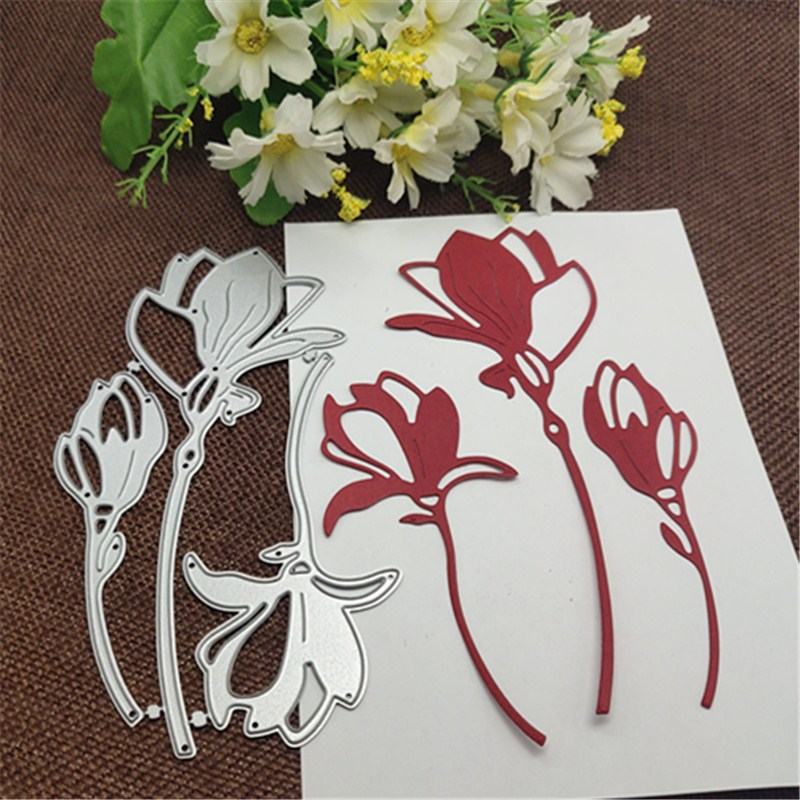 Flower Decoration 3Pcs Metal Cutting Dies For DIY Scrapbooking Album Paper Cards Decorative Crafts Embossing Die Cuts