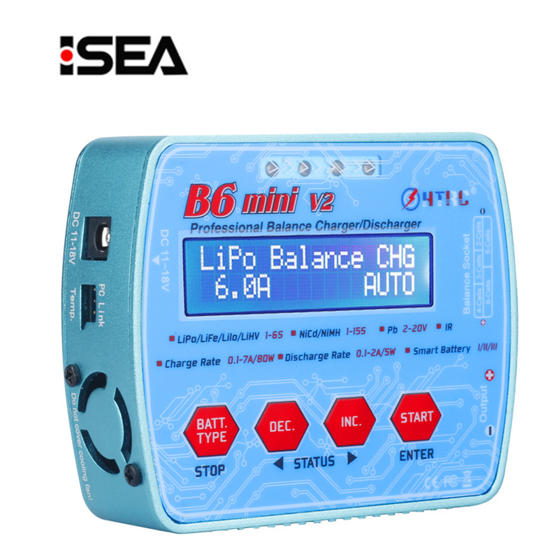 HTRC iMax B6 Mini V2 80W 7A Digital RC Battery Balance Charger With Adapter PB Lipo Lihv LiIon LiFe NiCd NiMH Battery Discharger|rc battery balance charger|battery balance chargerbalance charger - AliExpress