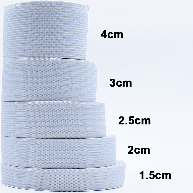 1-5 Meter Flat Elastic Band Sewing Clothing Accessories Nylon Webbing Garment Sewing Accessories Width 1/1.5/ 2/2.5/3/4/5cm