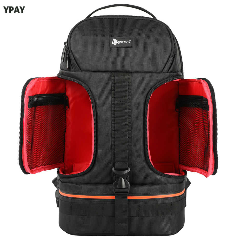 DSLR étanche caméra vidéo sac à dos trépied étui avec réflecteur rayure fit 15.6in sac d'ordinateur portable pour Canon Nikon Sony DSLR Photo