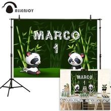 Allenjoy Verjaardag Fotografie Achtergrond Panda Bamboe Bos Custom Achtergrond Foto Studio Schieten Prop Photophone Photocall Decor