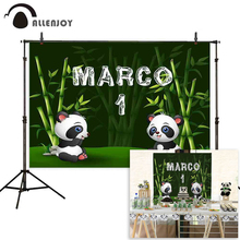 Allenjoy aniversário fotografia pano de fundo panda bambu floresta personalizado photo studio shoot prop photophone photocall decoração