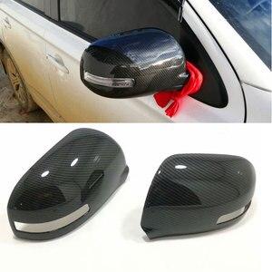 Para mitsubishi outlander 3 2019 2016 2017 2018 abs decoração do carro vara retrovisor espelho de vidro lateral capa guarnição quadro