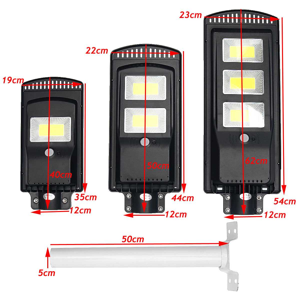 120/240/360 COB Wall Lamp IP67 Waterproof Outdoor Solar Street Light With Remote Control For Garden Yard Street Flood Lamp