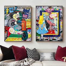 Canvas Graffiti Art Women Portrait Abstract Paintings For Interior Fat Man Posters On The Wall For Home Living Room Decoration