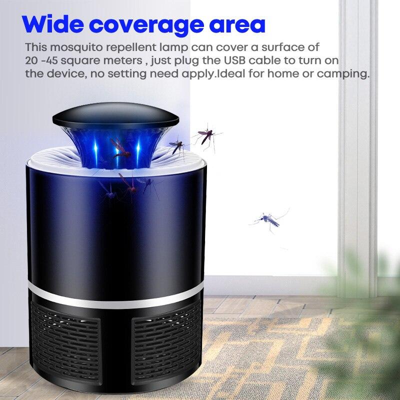 Светодиодсветодиодный лампа-ловушка для комаров с USB, электрическое средство для уничтожения комаров, бесшумная лампа с фотокатализатором ...