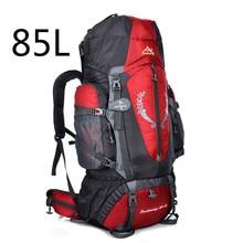 цена на 2019 Hot Large 85L Outdoor Backpack Unisex Travel Multi-purpose climbing backpacks Hiking big capacity Rucksacks camping bag