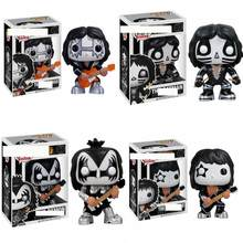 Funko POP KISS Guitarist Bass Drummer Demon Catman Vinyl Toys Action Figure Models Kids Toys Fans Collection(China)