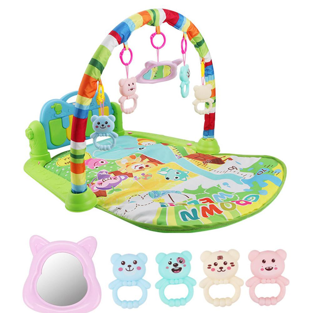 Kuulee Fitness Rack Baby Play Mat Kids Puzzle Carpet With Piano Keyboard And Cute Baby Gym Crawling Activity Mat