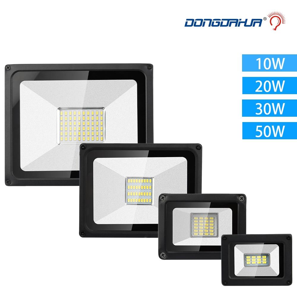 Led Floodlight Flood Lights10w 20w 30w 50w Spotlights For Outdoor Ip65 175-264v Spotlight Garden Lamps Led Light Outdoor