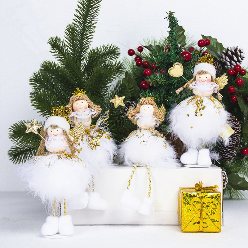 Christmas Angel Doll Toy Christmas Decorations For Home Christmas Tree Decorations Xmas Kids New Year Gifts Table Decoration