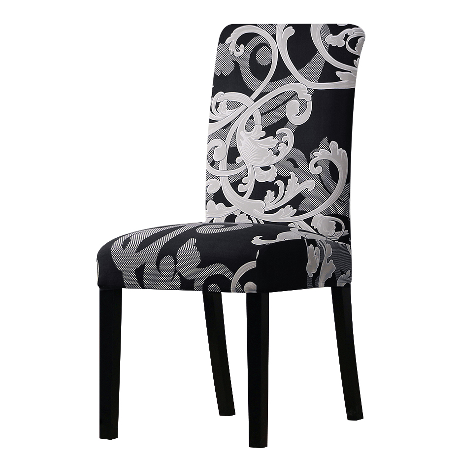 Printing covers universal size Chair cover seat Chair Covers Protector Seat Slipcovers for Hotel banquet home wedding decoration(China)