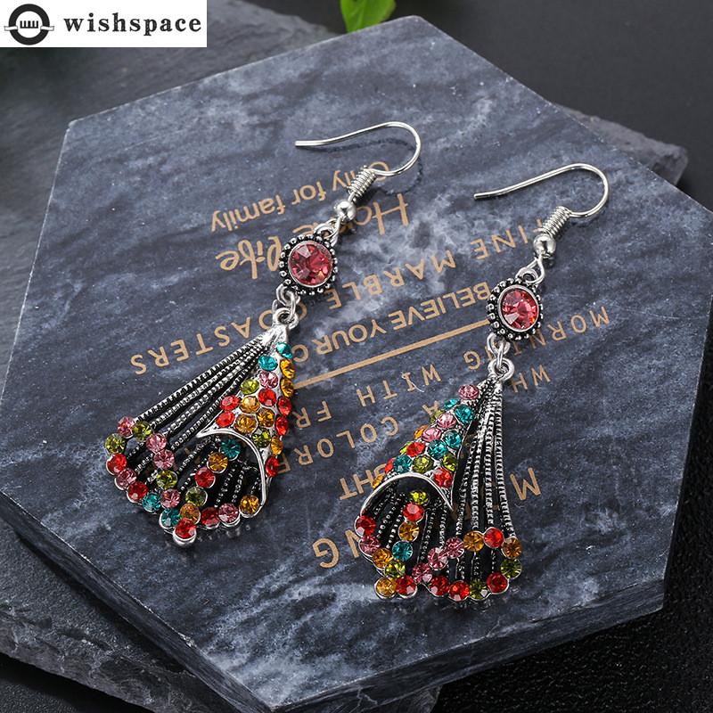 Europe and the United States national wind restoring ancient ways alloy set auger hollow out fashion ladies earrings jewelry