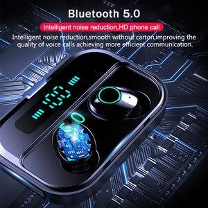 Image 5 - トゥーレワイヤレスヘッドフォン IPX7 tws 5.0 Bluetooth イヤホンハイファイヘッドセットスポーツ防水 LED イヤフォン電源銀行