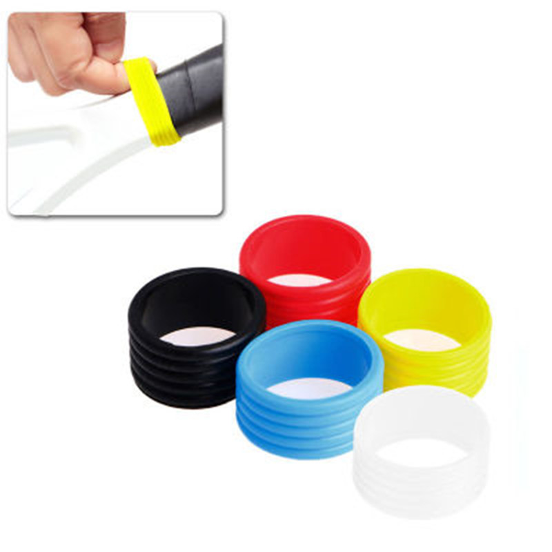 1pcs Tennis Racket Handle Silicone Ring Tennis Grip Elastic Protector Overgrip Fix Ring Absorbing Stretchy Rings