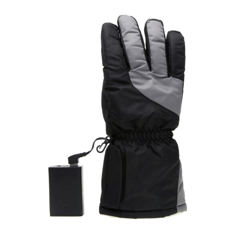 Luvas de Esqui Luvas de Esqui ao ar Luvas de Aquecimento Inverno Dedo Elétrico Bateria Aquecimento ao ar Livre Grosso Pode Ser Lavado Usb 5th