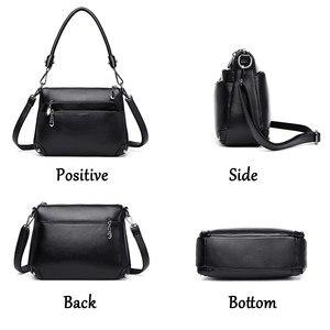 Image 3 - Leder Kleine Klappe Luxus Handtaschen Frauen Taschen Designer Handtaschen Hohe Qualität Umhängetaschen Für Frauen Schulter Tasche Sac EIN Haupt