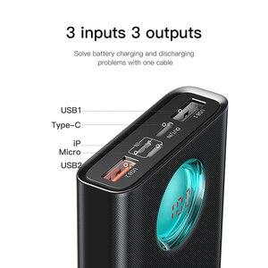 Image 4 - Baseus 20000mAh כוח בנק 18W PD3.0 QC3.0 מהיר טעינה חיצוני נייד מטען נסיעות חיצונית סוללה Powerbank עבור טלפון